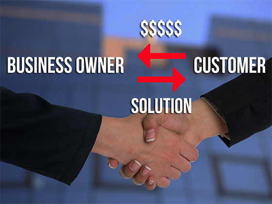 business owners and customers