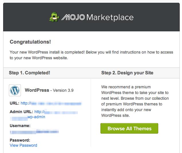 wordpress blog login credentials