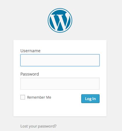 wordpress admin panel login page